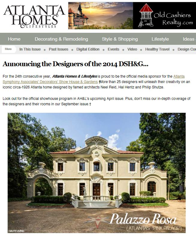 atlanta home designers the 2016 southeastern designer showhouse gardens announcing the designers of the 2014 show. Interior Design Ideas. Home Design Ideas