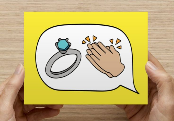 Ring and Clapping Hands Emoji Greeting Card ...