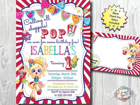 Best Shopkins Images On Pinterest Shopkins Birthday Party - Blank shopkins birthday invitations