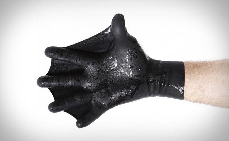 Swim Fins For Your Hands: Dark Fin Gloves   ... see more at InventorSpot.com