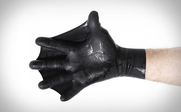 Swim Fins For Your Hands: Dark Fin Gloves   ... see more at InventorSpot.com