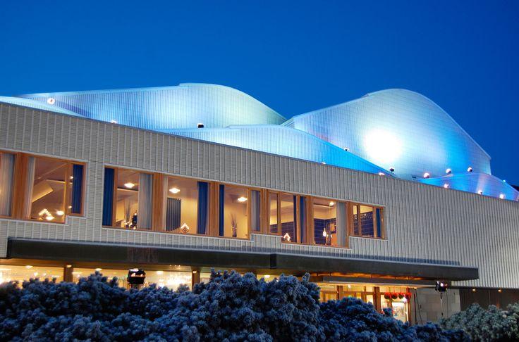 Lappia House, a congress venue and the home of Rovaniemi Theatre, designet by Alvar Aalto -Rovaniemi, Lapland, Finland