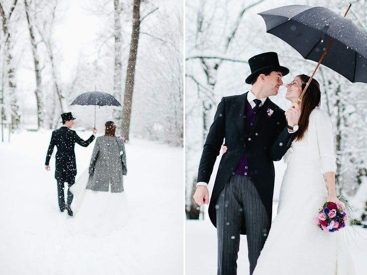 LOVE the umbrella...lots of other cute ideas too   36 Winter Wedding Photography Ideas