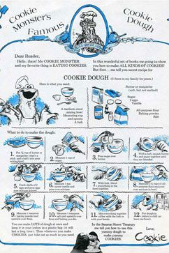 Cookie Monster's Original Cookie Recipe Recovered