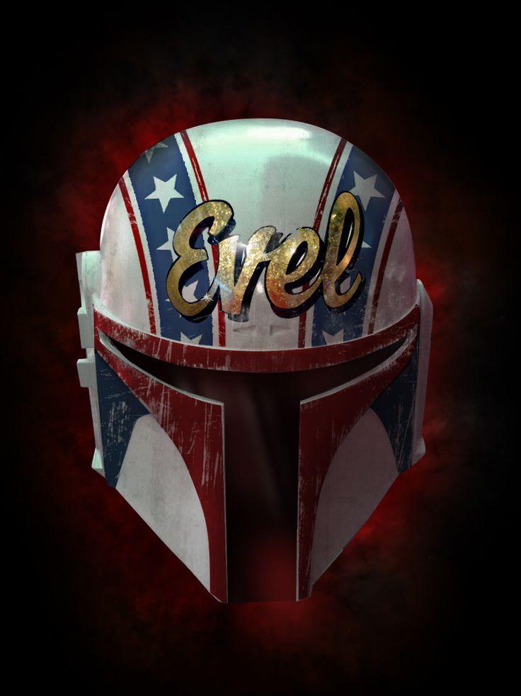 Evel Knievel / Boba Fett Motorcycle Helmet | #ridesafe #protectyourpumpkin