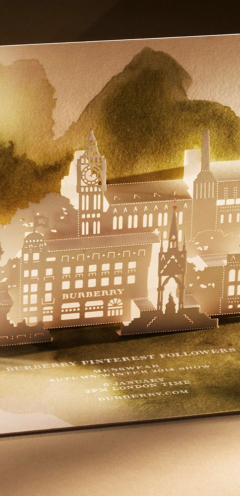 Burberry invites you to watch the Menswear A/W14 show live on Burberry.com - Wednesday 8 January at 2pm London time