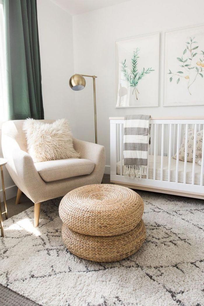 modèle de chambre bebe blanche aménagée en style bohème chic avec ...