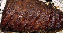 Oven Baked Spare Ribs with Barbecue Sauce