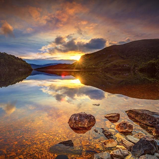 The reflections of Lake Pedder in the southwest of Tasmania. (Pic @AdingPhoto on IG). #discovertasmania