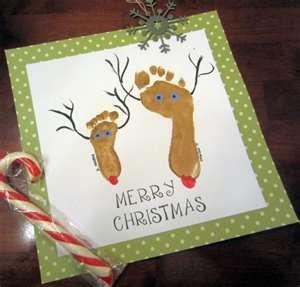 Frugal Christmas Craft Idea {Footprint Reindeer} | Free Printable ...