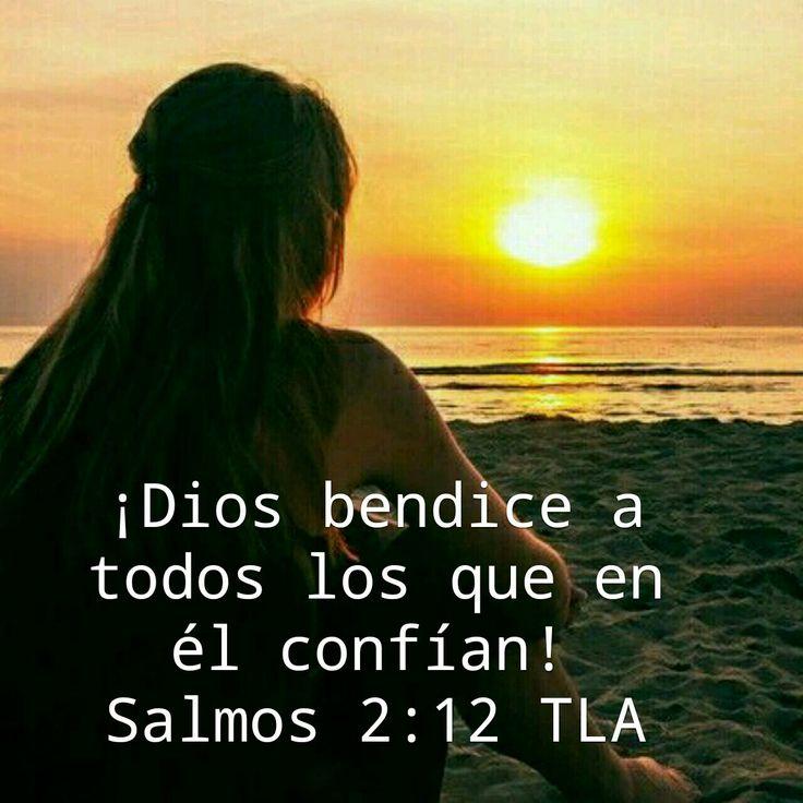 Dios bendice.a.todos loa que en el confian. Salmos 2:12