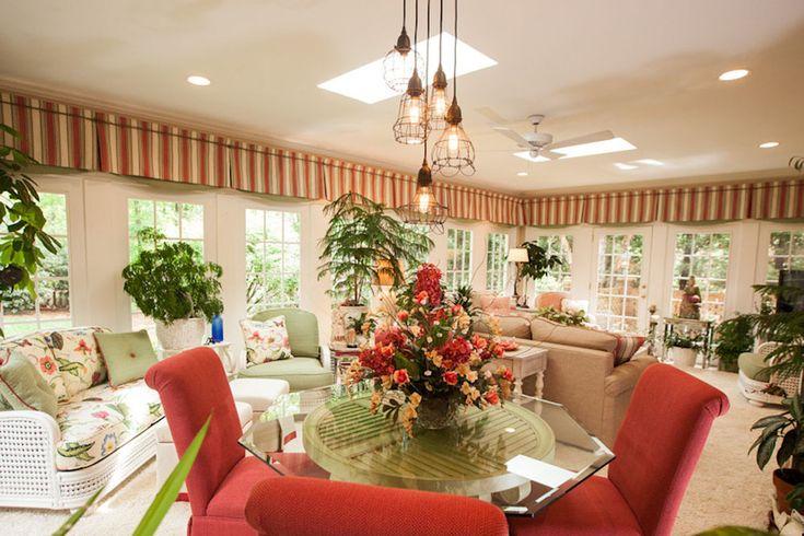Curtains Sunroom Window Treatments : Simple but Fashionable ...