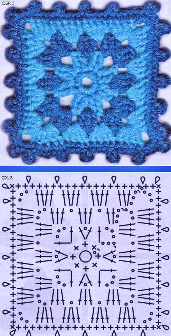 Tecendo Artes em Crochet: Seis Lindos Quadradinhos para Vocês!                                                                                                                                                      Mais