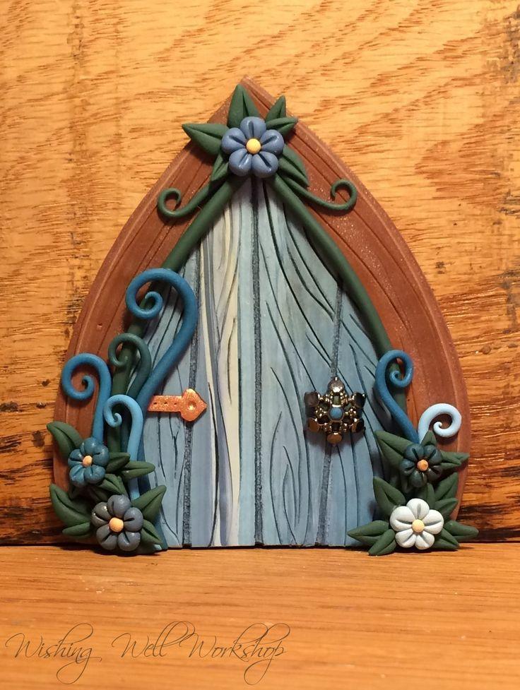 Polymer clay fairy door by Wishing Well Workshop