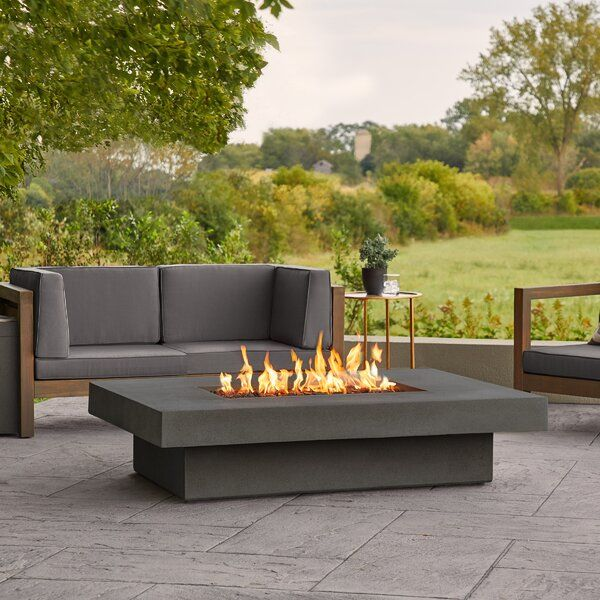 Alazhia Has A Smart Streamlined Design With A Rustic Finish And A Generous Tabletop Featurin In 2021 Propane Fire Pit Table Outdoor Fire Pit Table Gas Fire Pit Table
