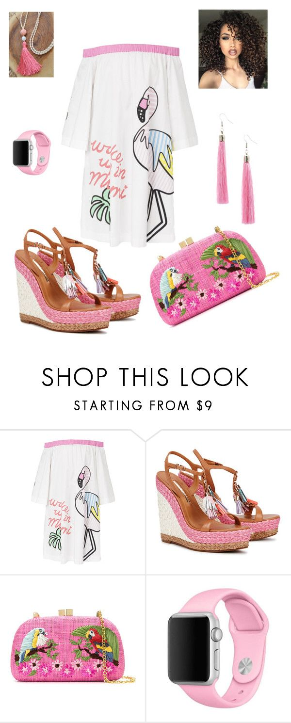 """""""pink"""" by korosensei ❤ liked on Polyvore featuring Mira Mikati, Sophia Webster, Serpui, Apple, Bubbly Bows and ASAP"""