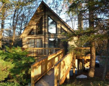 Check out this awesome listing on Airbnb: Peaceful Pocono Lakefront Chalet  in Mount Pocono