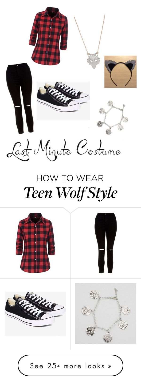 """werewolf costume"" by dmya on Polyvore featuring New Look, Converse and Ginette NY"