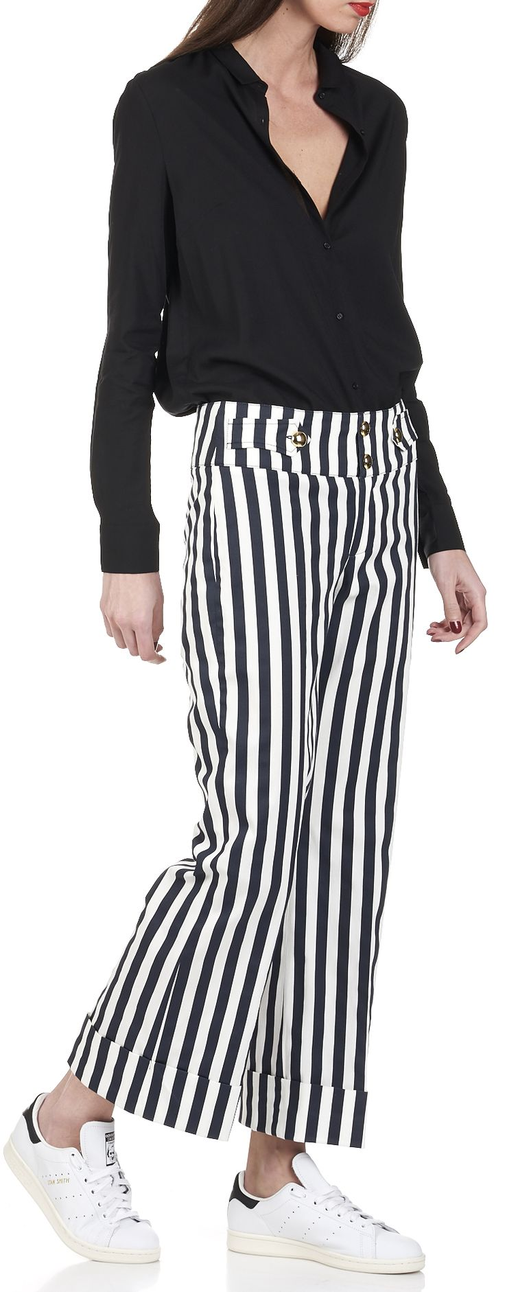 Pantalon ray bleu blanc femme hi06 jornalagora - Que porter avec un pantalon bleu marine ...