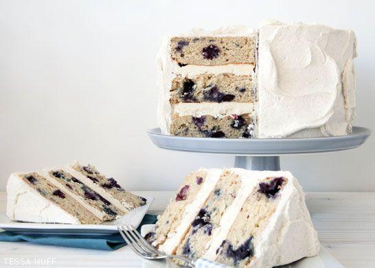 Blueberry Breakfast Cake by Tessa Huff  |  TheCakeBlog.com---- Cake for breakfast, yum!
