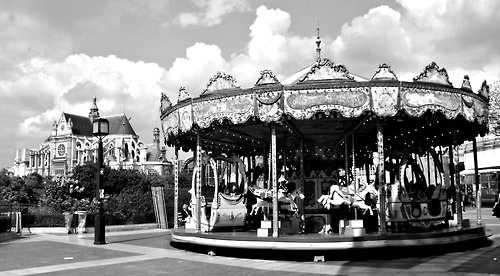 a carousel in Paris, France
