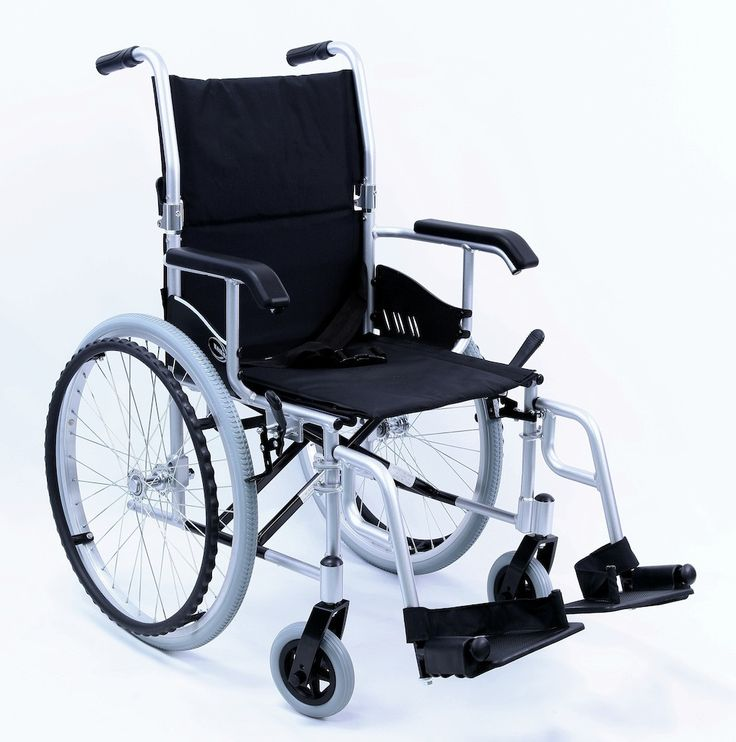 Karman Ultra Lightweight Wheelchair with Swing Away Footrest in Silver