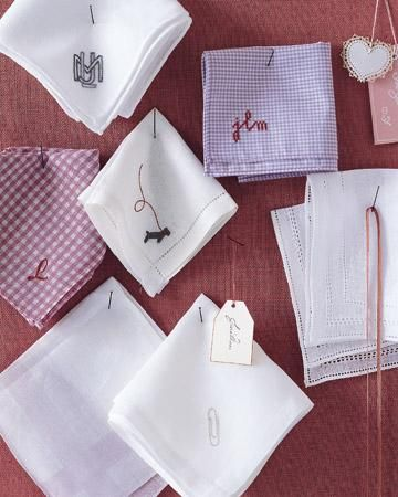 Embroidered Handkerchiefs How-To