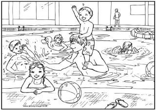 pool safety coloring page - Google Search