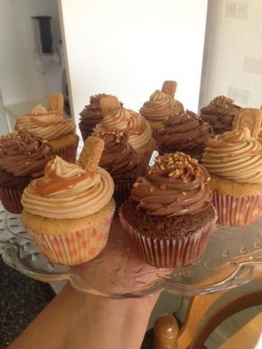 Cupcake au spéculos, chocolat, caramel
