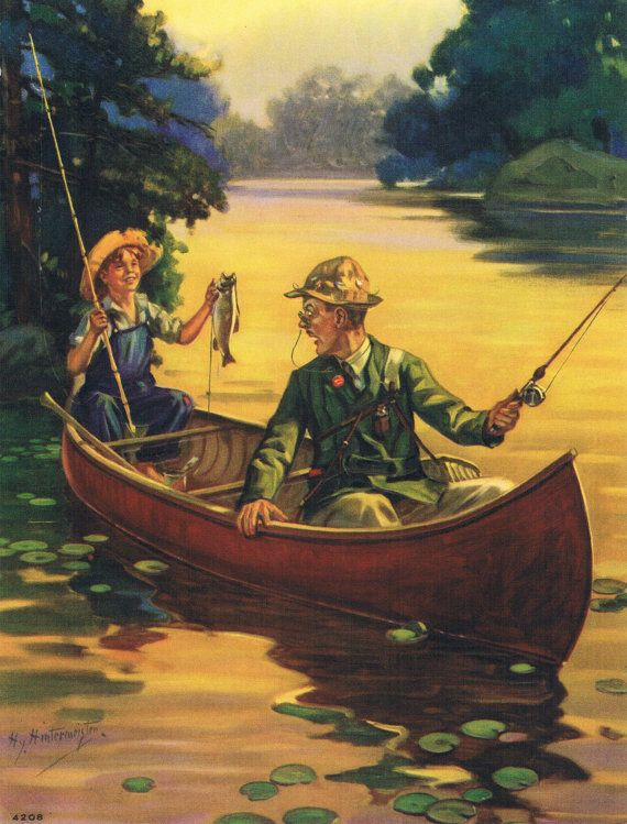Out Fished Again Hintermeister Calendar Art Print by RedfordRetro