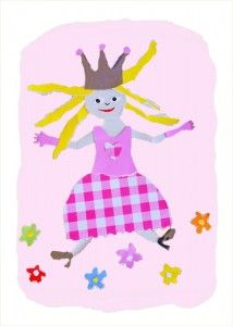 wenskaart-prinses-behangfiguur