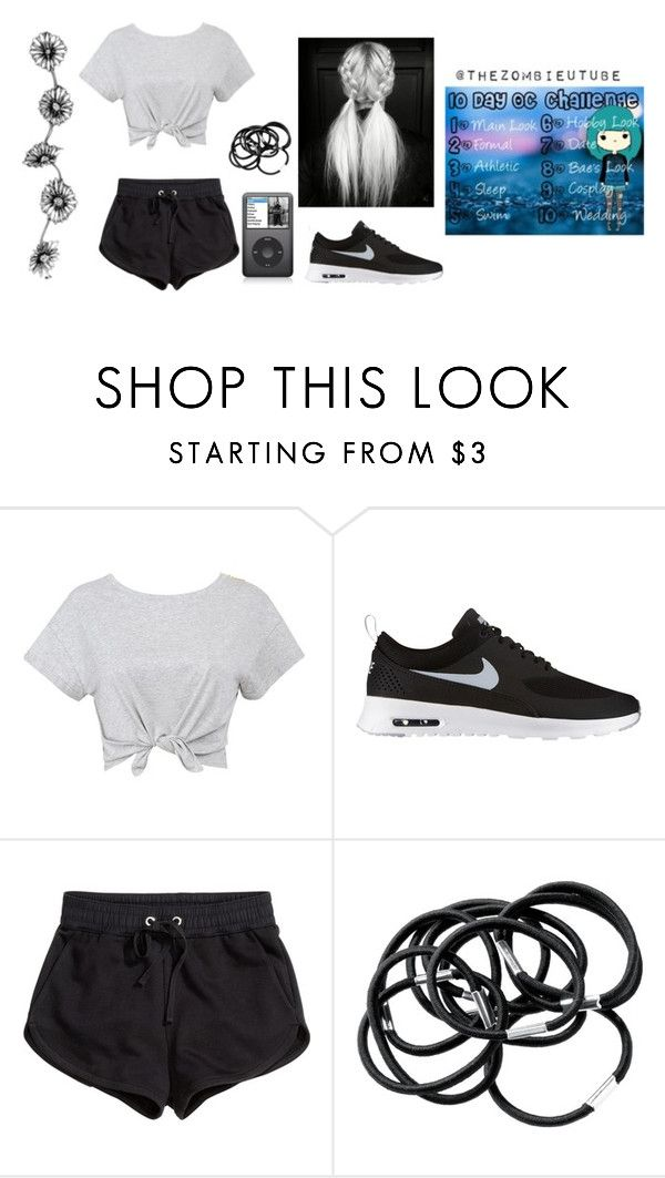 """Day 3: Athletic Look"" by twertlesquad ❤ liked on Polyvore featuring NIKE and H&M"
