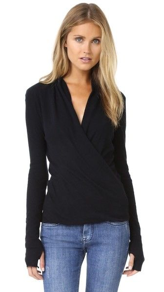 Enza Costa Ballet Wrap Sweater