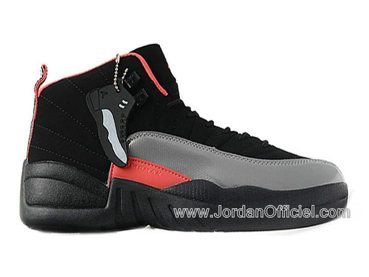 Air jordan 12/XII Retro GS chaussures Jordan Pour Femme Black/Siren Red 510815-008