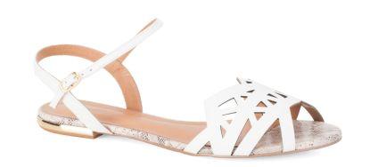 #Kazar Białe sandały
