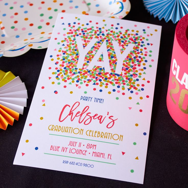 The cutest graduation party invitation!