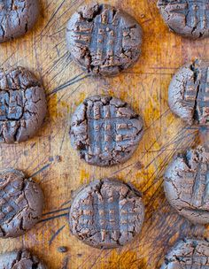 Thick & Soft Chocolate Peanut Butter Cookies (GF) - NO butter, NO white sugar, & NO flour used. Soft, moist, rich & boldly chocolaty. Almost like brownies!