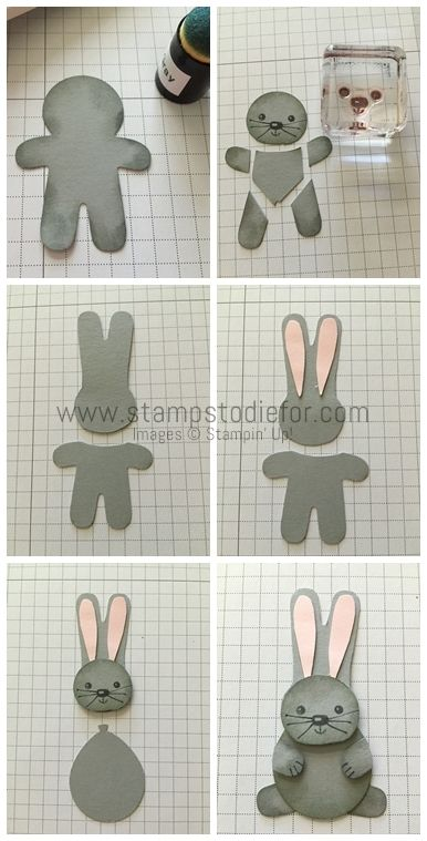 Cookie Cutter Christmas Stamp Set & Cookie Cutter Builder Punch - Easter Bunny Card How to Pattern  www.stampstodiefor.com