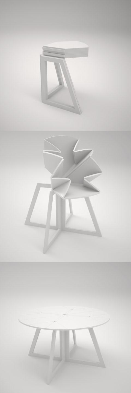 foldable table - by GRAND CENTRAL design: Sanna Lindström / Sigrid Strömgren