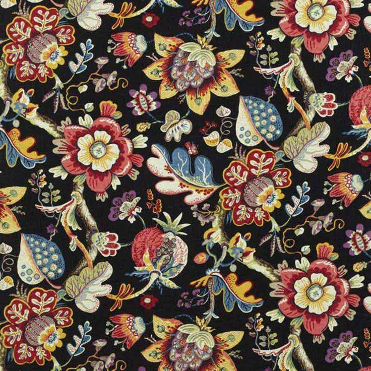 Warwick Fabrics : ALHAMBRA, Colour ONYX