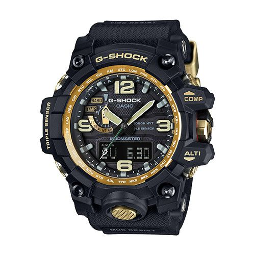 Casio Mudmaster Men's Black & Gold Watch