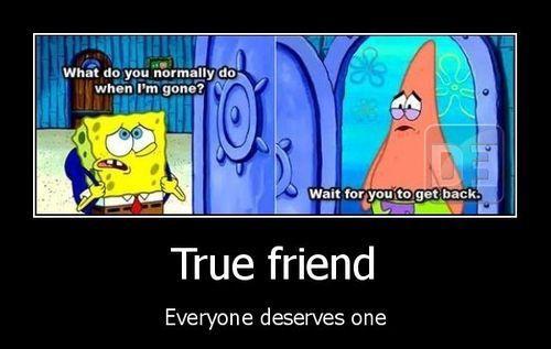 SpongyQuotes (spongebob,spongebob squarepants,squarepants,patrick,patrick star,quotes of friends,best friends,friend,quote,wait for you)