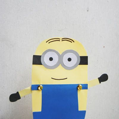 Easy to Make Despicable Me Minion Paper Dolls!