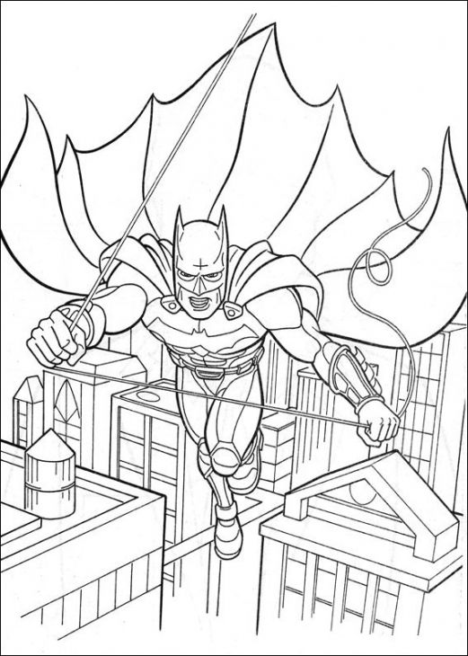 Printable Image Of The Dark Knight Batman To Color