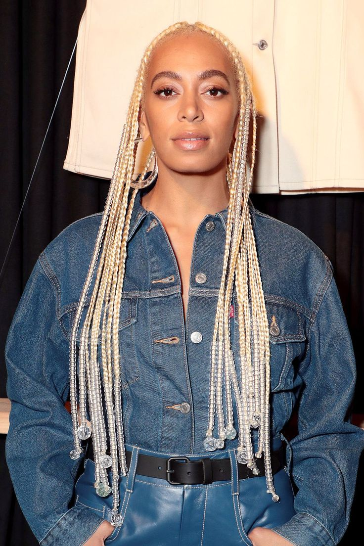 Braids or plaits are the perfect way to get through transitional weather without sweating. Get some A-list hairstyle inspiration from these stylish celebrities on the ultimate braided hairstyles. Solange Braids, Hair Inspo, Hair Inspiration, Blonde Box Braids, Braids With Beads, Solange Knowles, Black Girl Aesthetic, Plaits, Black Is Beautiful