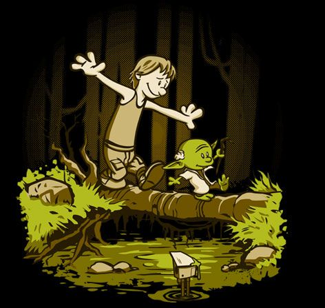 Calvin & Hobbes / Yoda & Luke