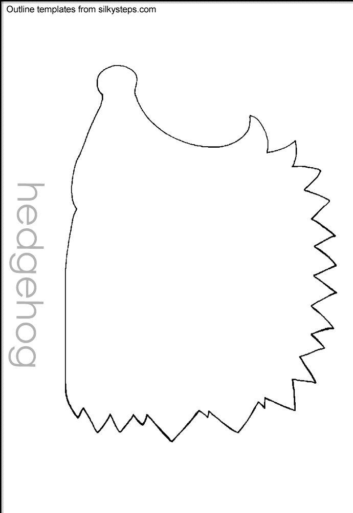 Hedgehog hibernation outline template