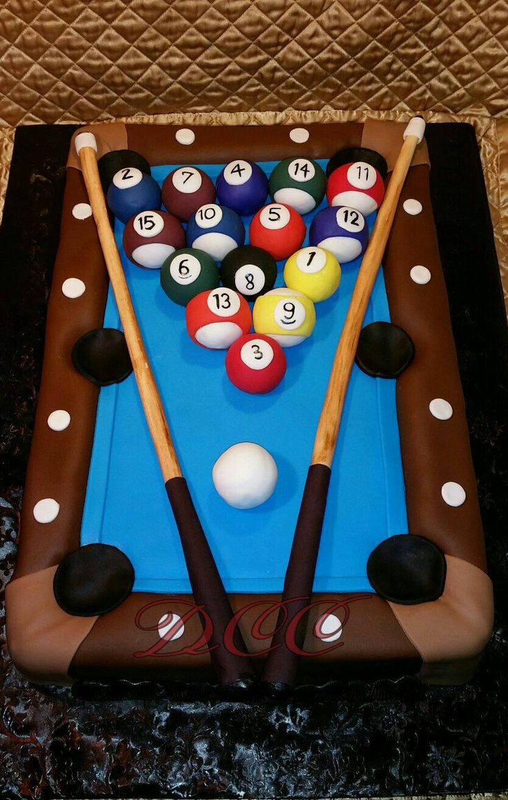 Pool table cake https://m.facebook.com/DalisCakesCreations/