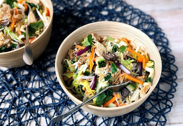 The best Vietnamese Beef Noodle salad - loads of flavour and texture.