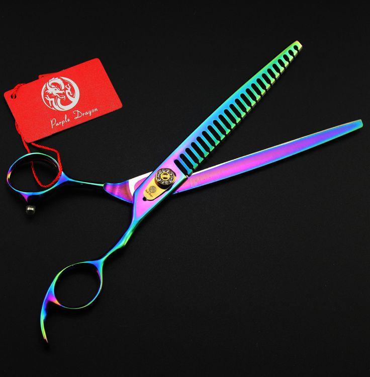 8 inch  gemstones Pet Beauty cut teeth cut pet hair repair Shear Thinning Shears